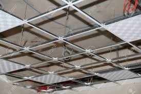 Installation Of Suspended Ceilings And Lighting Stock Photo, Picture And  Royalty Free Image. Image 147156133.