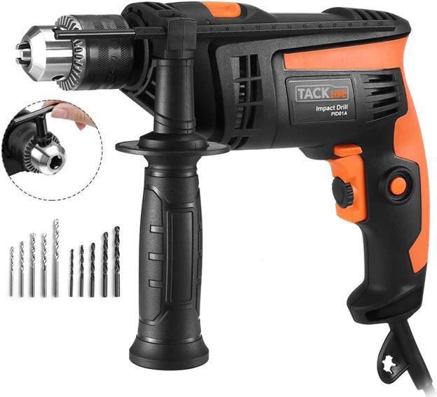Best Drills - 1.TACKLIFE Corded Hammer Drill